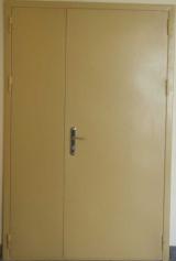 Двери противопожарные металлические двухстворчатые